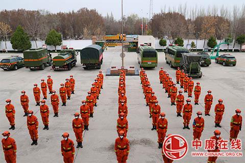 新疆巩留森林消防大队举行尼勒克县靠前驻防出征仪式