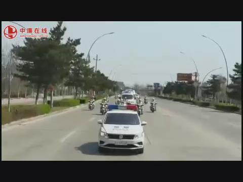 秦皇岛市昌黎县公安交警迎接护送支援湖北医疗队英雄回家