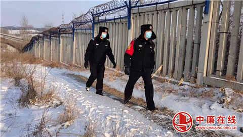 昌图西车站派出所做好雨雪天气线路隐患排查工作