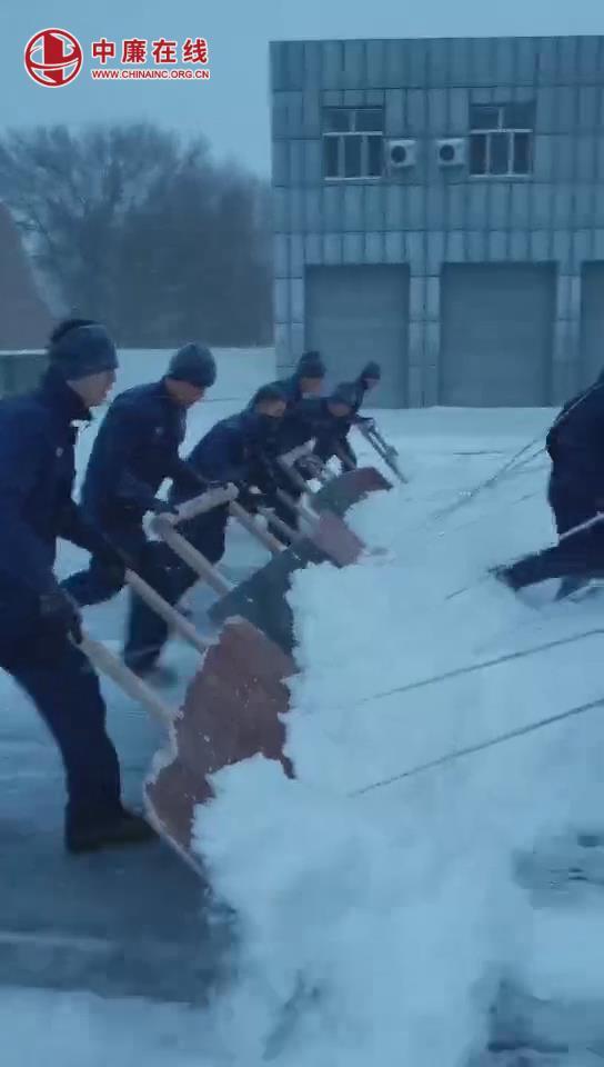来看看蓝朋友的冬天是怎么扫雪的