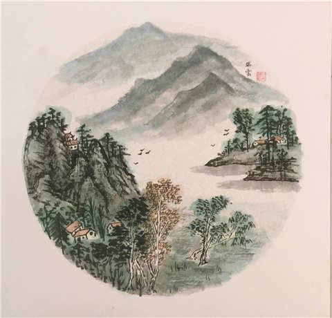 吴瑞云山水画艺术欣赏